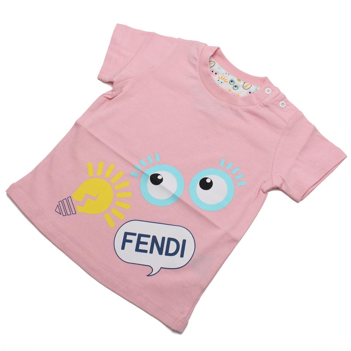フェンディ (FENDI) ベビーTシャツ ベビー服 BUI000 7AJ F0C11 ピンク系【キッズ・ベビー】【女の子】