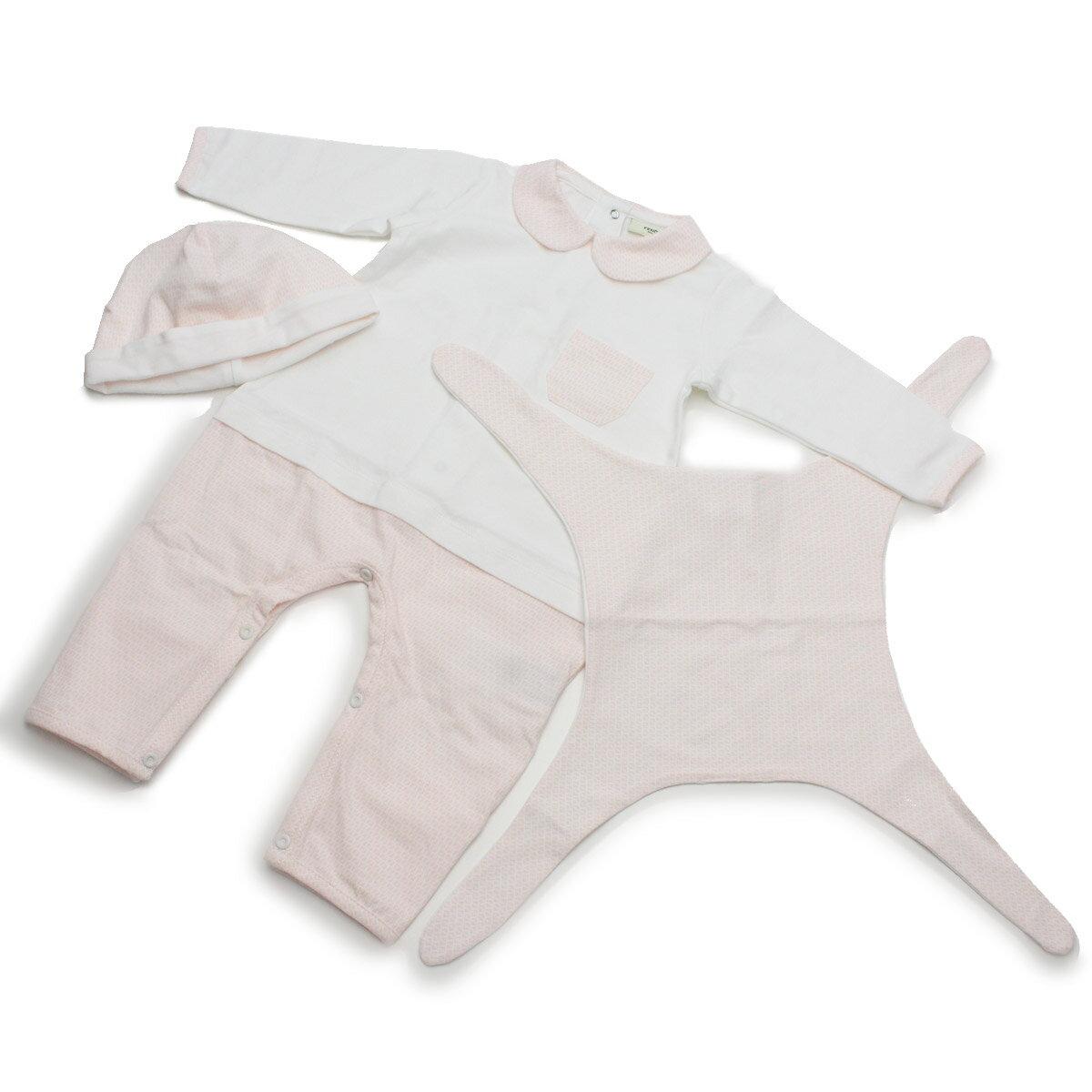 フェンディ FENDI ロンパース セット FSW232 NNW F0YT7 ホワイト系 ピンク系【キッズ・ベビー】【ベビー服 子供服 】【女の子】