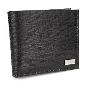 フェラガモ FERRAGAMO 財布 二つ折り 66 7070 0351306 NERO ブラック men's メンズ ブランド財布 gsm-2