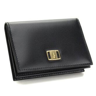 Ferragamo (FERRAGAMO) business card holder 66 9,995 0607106 NERO( taxfree/send by EMS/authentic/A brand new item )