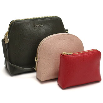 Full lah (FURLA) BOHEME pochette three set EK08 850737 ARE M6P MIL green system pink system red system
