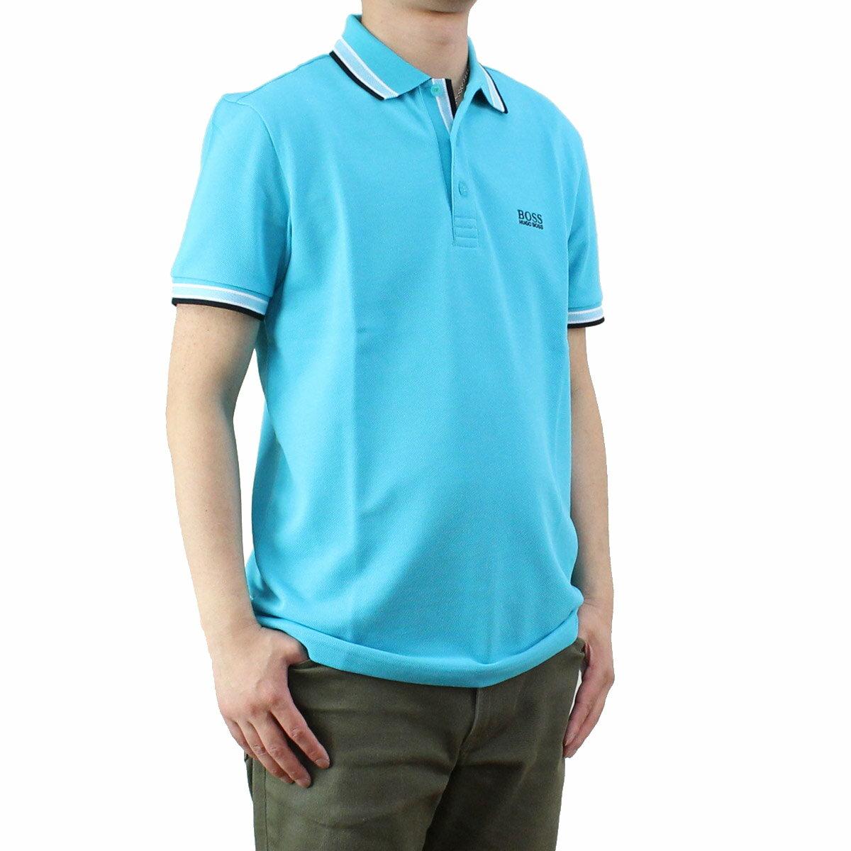 ヒューゴ ボス HUGO BOSS PADDY パディ メンズ ポロシャツ 50302557 10102943 488 ブルー系 【メンズ】【半袖 ゴルフウェア】