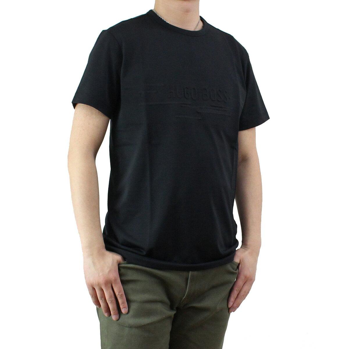 ヒューゴ ボス HUGO BOSS TEE 9 メンズ クルーネック Tシャツ 50329641 10175216 001 ブラック 【メンズ】【ティーシャツ 半袖】
