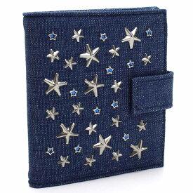 ジミーチュウ JIMMY CHOO Wホック財布(M) FRIDA ESY NAVY/SILVER/LIGHT BL ブルー系 レディース