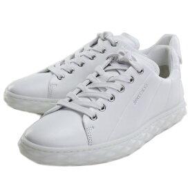 【メンズもOK!!】【レディース大きめサイズ】 ジミーチュウ JIMMY CHOO レディーススニーカー 白スニーカー ブランドスニーカー ブランドロゴ DIAMOND LIGHT F NAP 211 V WHITE ホワイト系 shoes-01 uni-01
