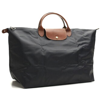 1624-089-300 handbags Longchamp (LONGCHAMP) dark grey( taxfree/send by EMS/authentic/A brand new item )