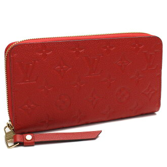 Monogram Louis Vuitton (LOUIS VUITTON) and plant zippy long wallet large zip around M61865 series red series( taxfree/send by EMS/authentic/A brand new item )