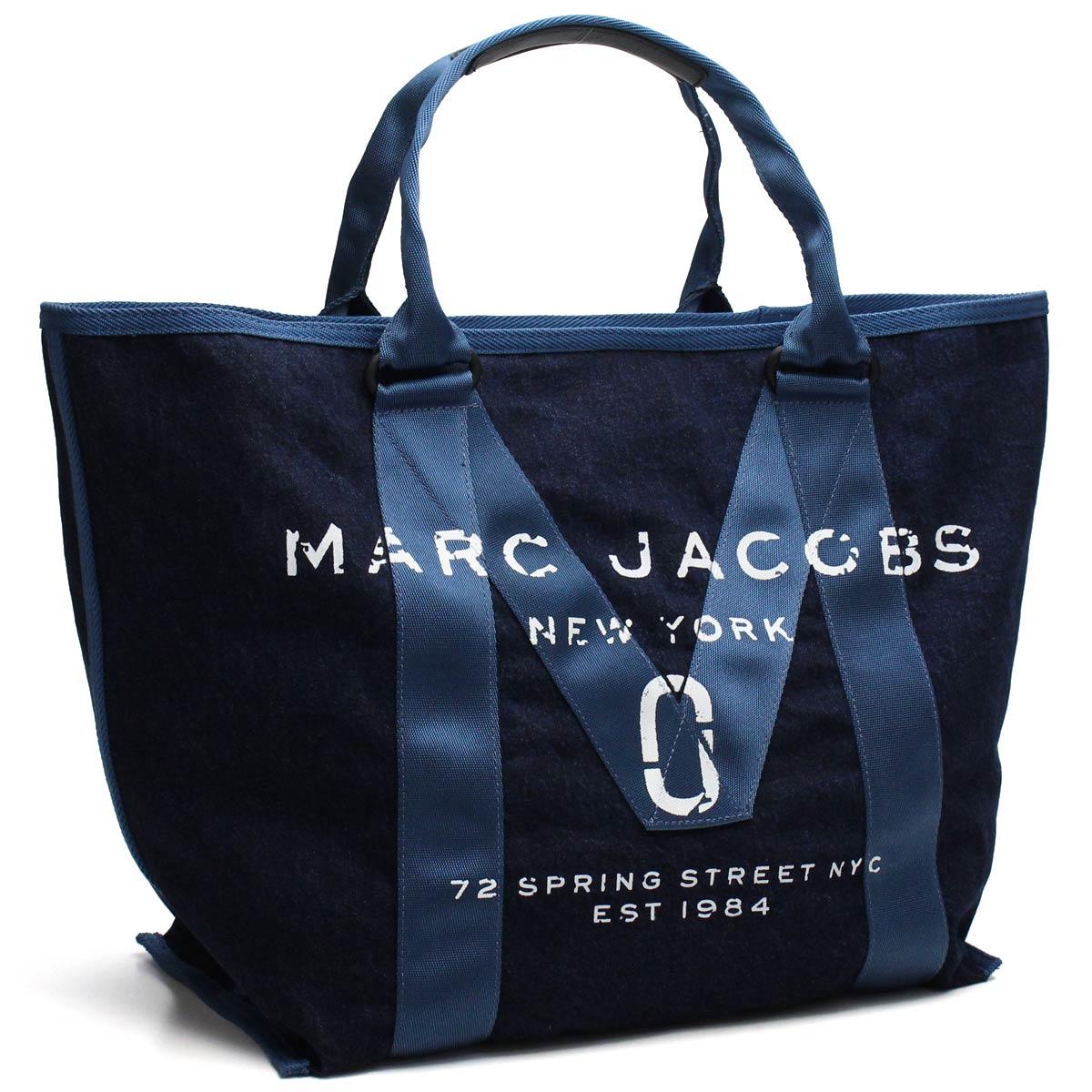 マーク ジェイコブス MARC JACOBS バッグ ニュー ロゴ トート トートバッグ M0011123 423 DENIM ブルー系 【レディース】