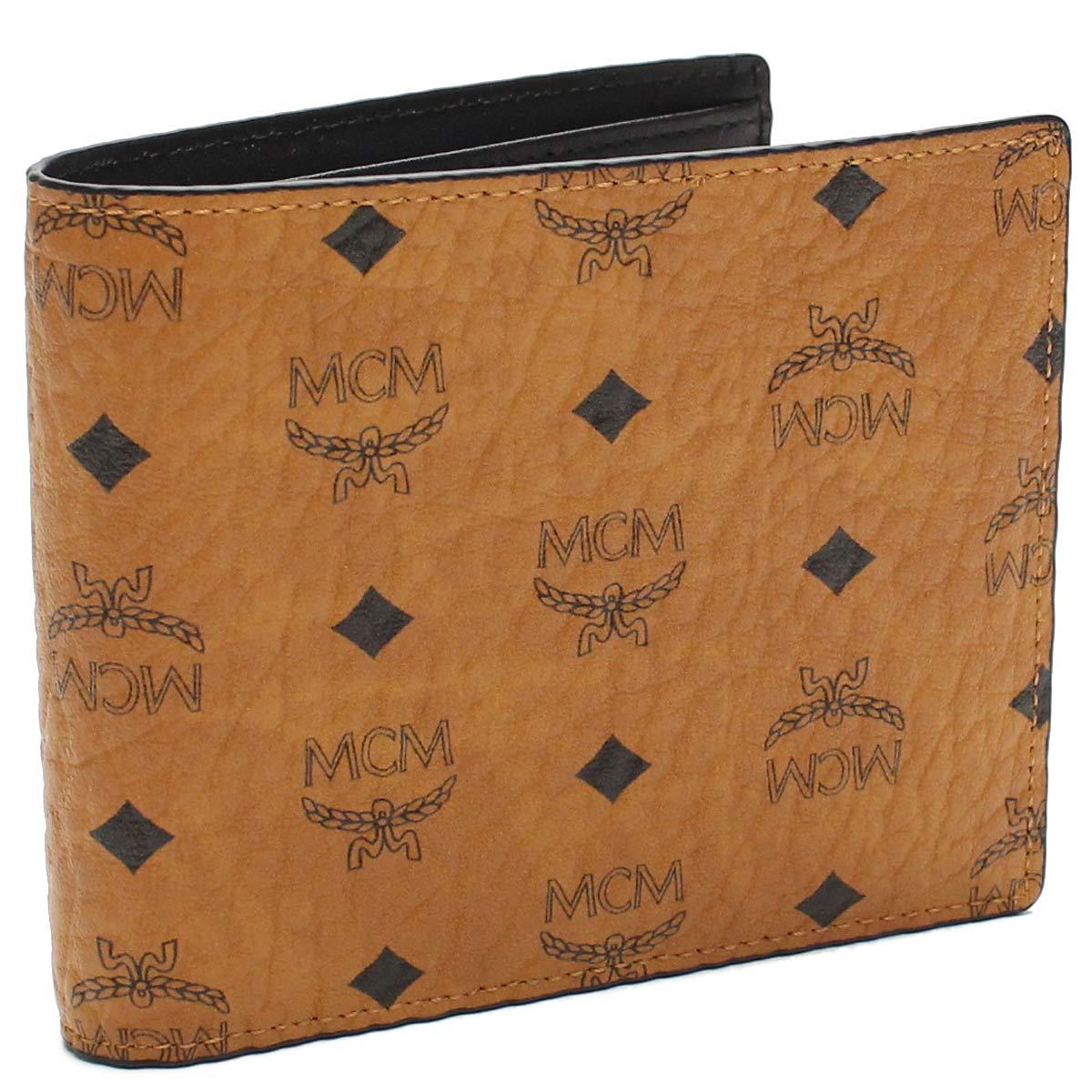 エムシーエム MCM 財布 二つ折り 小銭入付き MXS6AVI66 CO001 ブラウン系 【メンズ】