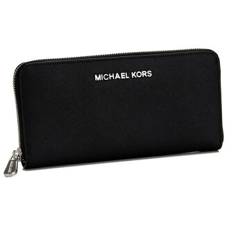 마이클・코스(MICHAEL KORS) JET SET TRAVEL 라운드 패스너장 지갑 동전 지갑 첨부 32 T3STVE3L BLACK 블랙