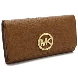 有邁克爾套餐MICHAEL KORS FULTON 2個機會長錢包硬幣袋的32F2GFTE3L ACORN棕色派的
