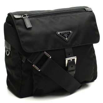 Prada (PRADA) diagonal shoulder 1BD994-V44-F0002 NERO black( taxfree/send by EMS/authentic/A brand new item )