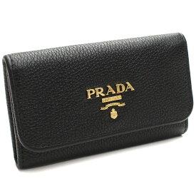 プラダアウトレット (PRADA(OUTLET)) 6連キーケース 1PG222 O 2E3A F0002 NERO ブラック レディース