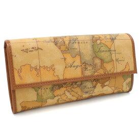 プリマクラッセ PRIMA CLASSE 財布 GEO CLASSIC二つ折り 長財布 小銭入付き W018 6000 ベージュ系/マルチカラー 地図柄 レディース