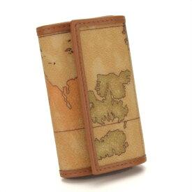 プリマクラッセ (PRIMA CLASSE) 6連キーケース W250 6000 ベージュ系 地図柄 レディース