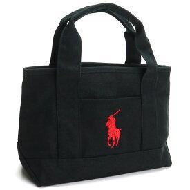 ラルフローレン RALPH LAUREN SCHOOL TOTE SMALL II ポニー刺繍 スクールトート トートバッグ 959033A BLACK/RED ブラック レッド系 トートバック tote BAG レディース ブランドバッグ