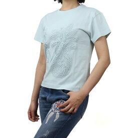シーバイクロエ SEE BY CHLOE レディース−Tシャツ CHS21SJH18098 42B CLOUDY AQUA ブルー系 bos-27 apparel-01 レディース