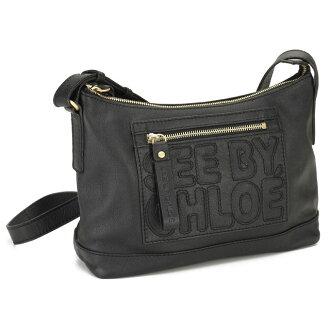 See by Chloe (SEE BY CHLOE) ZIP FILE diagonal shoulder bag 9S7514-N199-001 BLACK black system( taxfree/send by EMS/authentic/A brand new item )