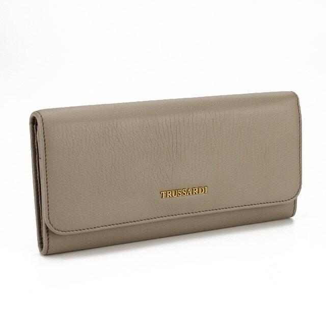 トラサルディ TRUSSARDI 財布 二つ折り 長財布 小銭入付き 1DP105J158 1117 ベージュ系 【メンズ】