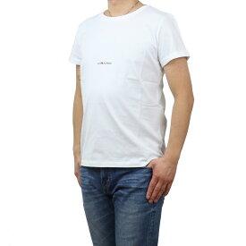 サンローラン SAINT LAURENT メンズ−Tシャツ 464572 YB2DQ 9000 WHITE ホワイト系 bos-14 apparel-01 メンズ 2021SS