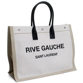 サンローラン SAINT LAURENT RIVE GAUCHE リブゴーシュ トートバッグ 509415 9J52D 9280 ホワイト系 メンズ