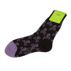 デ・ピオ DePio ユニセックス ソックス U2CF275C COMB.10 ブラック/パープル系 メンズ レディース 女性 靴下