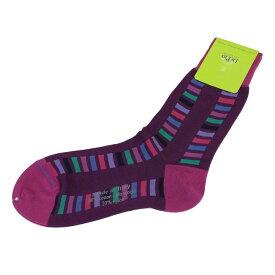 デ・ピオ DePio ユニセックス ソックス U2CF532NC COMB.02 パープル系マルチカラー メンズ レディース 女性 靴下