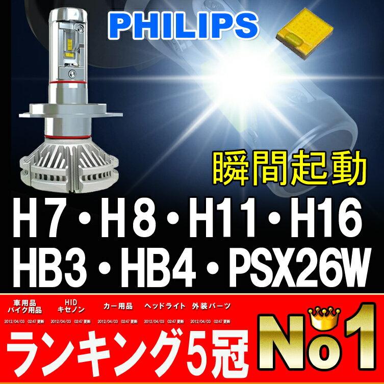 瞬間点灯 8000ルーメン【送料無料】PHILIPS 1年保証 LEDフォグランプ H7 H8 H11 H16 HB3 HB4 PSX26W イエロー ホワイト LEDヘッドライト LEDライト LED フォグ LEDバルブ