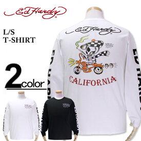 大きいサイズ メンズ ED HARDY(エドハーディー) Tシャツ 長袖 スカルライダー 3L 4L 5L【コンビニ受取対応商品】
