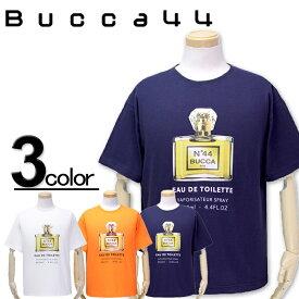 大きいサイズ メンズ Bucca44(ブッカフォーティーフォー) パフュームプリント 半袖Tシャツ XXL XXXL【コンビニ受取対応商品】