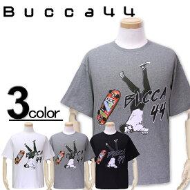 大きいサイズ メンズ Bucca44(ブッカフォーティーフォー) スケボープリント 半袖Tシャツ XXL XXXL【コンビニ受取対応商品】