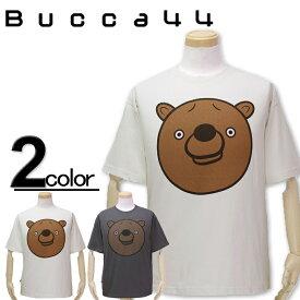 大きいサイズ メンズ Bucca44(ブッカフォーティーフォー) ベアBIGプリント 半袖Tシャツ XXL XXXL【コンビニ受取対応商品】