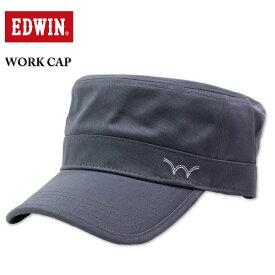 大きいサイズ メンズ EDWIN エドウィン ツイルワークキャップ チャコールグレー 3L相当/61〜63cm 送料無料 コンビニ受取対応商品