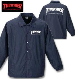 大きいサイズ メンズ THRASHER(スラッシャー) コーチジャケット ネイビー 3L 4L 5L 6L 8L 送料無料【コンビニ受取対応商品】