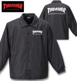 大きいサイズ メンズ THRASHER(スラッシャー) コーチジャケット ブラック 3L 4L 5L 6L 8L 送料無料【コンビニ受取対応商品】