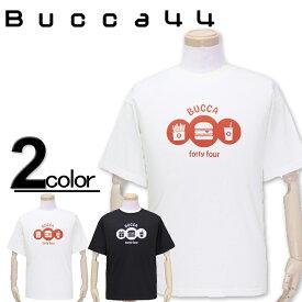 大きいサイズ メンズ Bucca44(ブッカフォーティーフォー) ハンバーガーセット 半袖Tシャツ XXL XXXL【コンビニ受取対応商品】