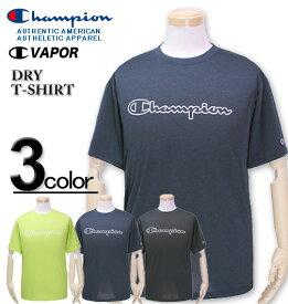大きいサイズ メンズ Champion(チャンピオン) ドライ ロゴプリントTシャツ 半袖 3L 4L 5L【コンビニ受取対応商品】