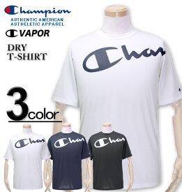 大きいサイズ メンズ Champion(チャンピオン) ドライ ビッグロゴTシャツ 半袖 3L 4L 5L【コンビニ受取対応商品】