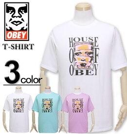 大きいサイズ メンズ OBEY(オベイ) Tシャツ 半袖 HOUSE OF OBEY/XL XXL【コンビニ受取対応商品】