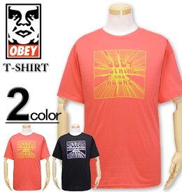 大きいサイズ メンズ OBEY(オベイ) Tシャツ 半袖 OBEY NOTHING/XL XXL【コンビニ受取対応商品】