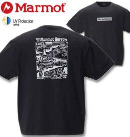 【全品ポイント10倍】大きいサイズ メンズ Marmot(マーモット) バロウ半袖Tシャツ ブラック 3L 4L 5L 6L 送料無料 コンビニ受取対応商品