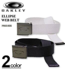 【全品ポイント10倍】大きいサイズ メンズ OAKLEY(オークリー) ゴルフ ELLIPSE ウェブベルト フリーサイズ/~110cm【コンビニ受取対応商品】