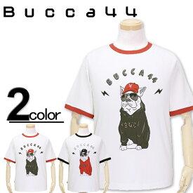 大きいサイズ メンズ Bucca44(ブッカフォーティーフォー) フレンチブルドッグ リンガー半袖Tシャツ XXL XXXL【コンビニ受取対応商品】