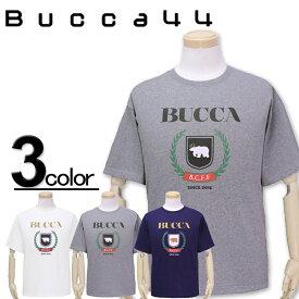大きいサイズ メンズ Bucca44(ブッカフォーティーフォー) カレッジロゴ 半袖Tシャツ XXL XXXL【コンビニ受取対応商品】