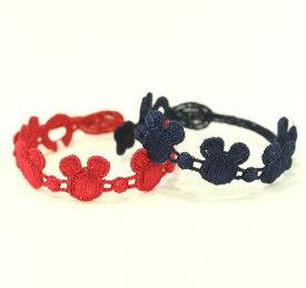 正規品 Cruciani/クルチアーニキッズミッキーマウス 刺繍ブレスレット 2本セット