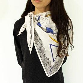正規品 ANNEE(アネ)TW-AUTUMN/WINTER 星座プリント シルクスカーフ【OUTLET】