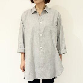 ORIAN(オリアン)8Y80-U310 コットン オーバーシャツ 正規品 レディース SALE