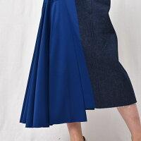 AMBELL(アンベル)OSKT004デニムミックスロングスカート
