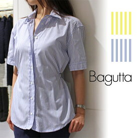 Bagutta(バグッタ)PARMA 04900 ストライプ ショートスリーブシャツレディース 正規品