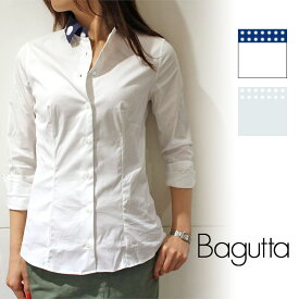 Bagutta(バグッタ)NINAC 00672 ドットプリント クレリックシャツレディース 正規品
